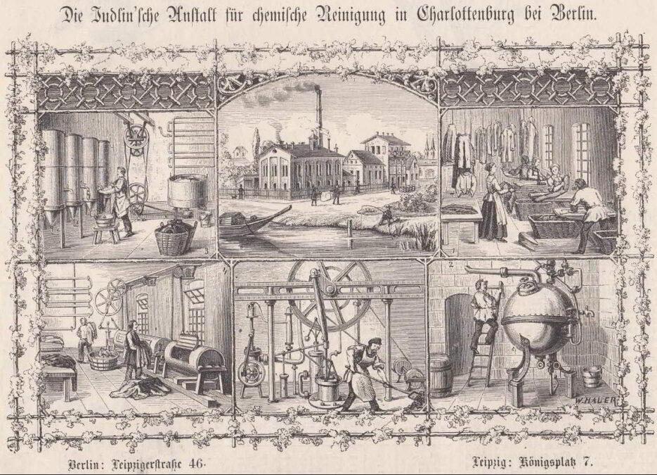 Judlinowski Zakład Prania Chemicznego w Charlottenburgu pod Berlinem pralnie chemiczne
