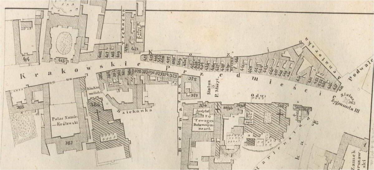 Krakowskie Przedmieście przed 1865 rokiem